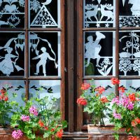 Elsaessische Weinstrasse Fenster Elsassmotive