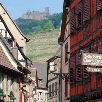 Burgen Schloesser Ribeauville Burg Gasse