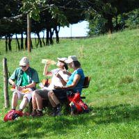 Wandern Schwarzwald Vesper Pause
