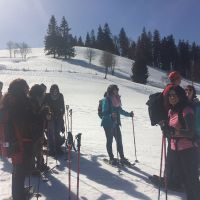 Fruehlingssonne Und Schneeschuhwandern 4