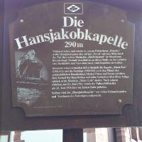 Hansjakob Kapelle Hofstetten Schild
